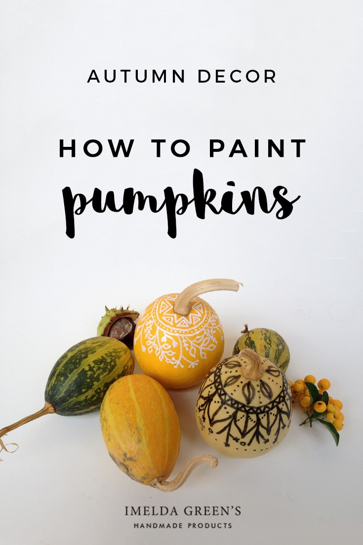 Tutorial - how to create painted pumpkins