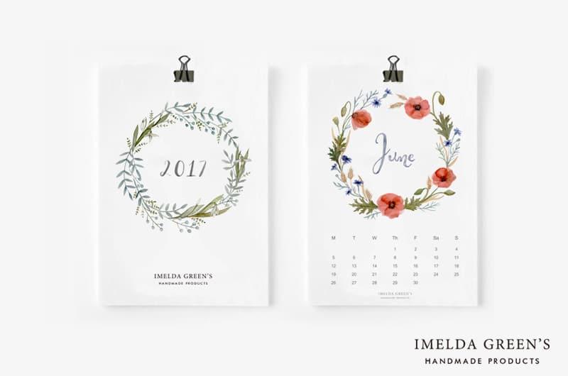 2017 handpainted calendar