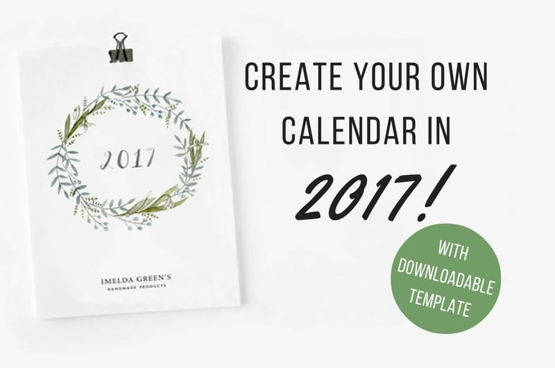 Draw your own calendar in 2017! (with downloadable template)