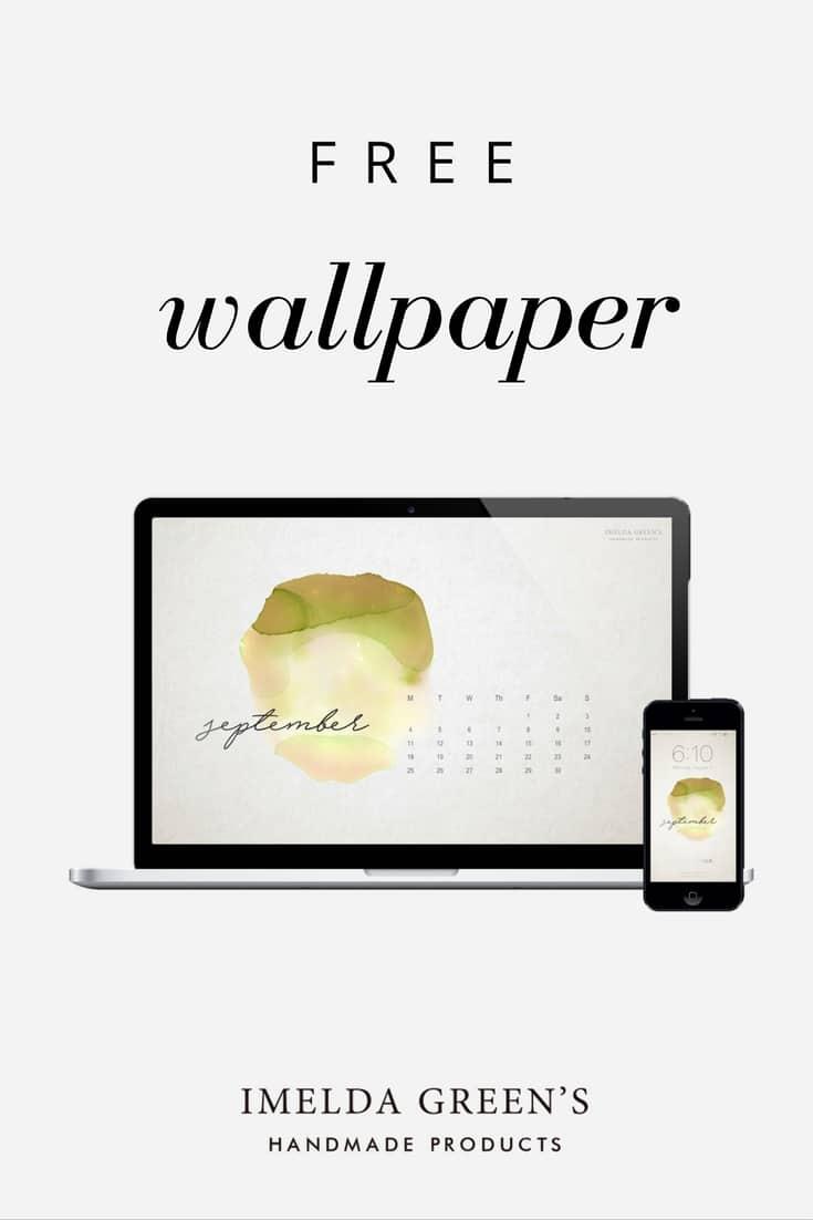 hand-painted calendar for download 2017 September