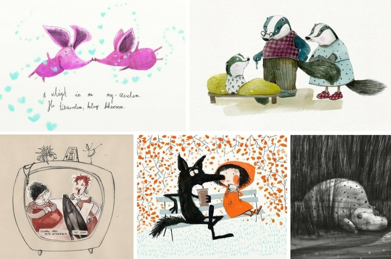 5 Hungarian Illustrators I follow - Mónika Egri