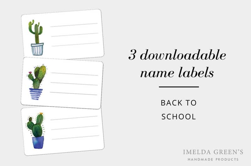 Back to school: 3 downloadable name label stickers