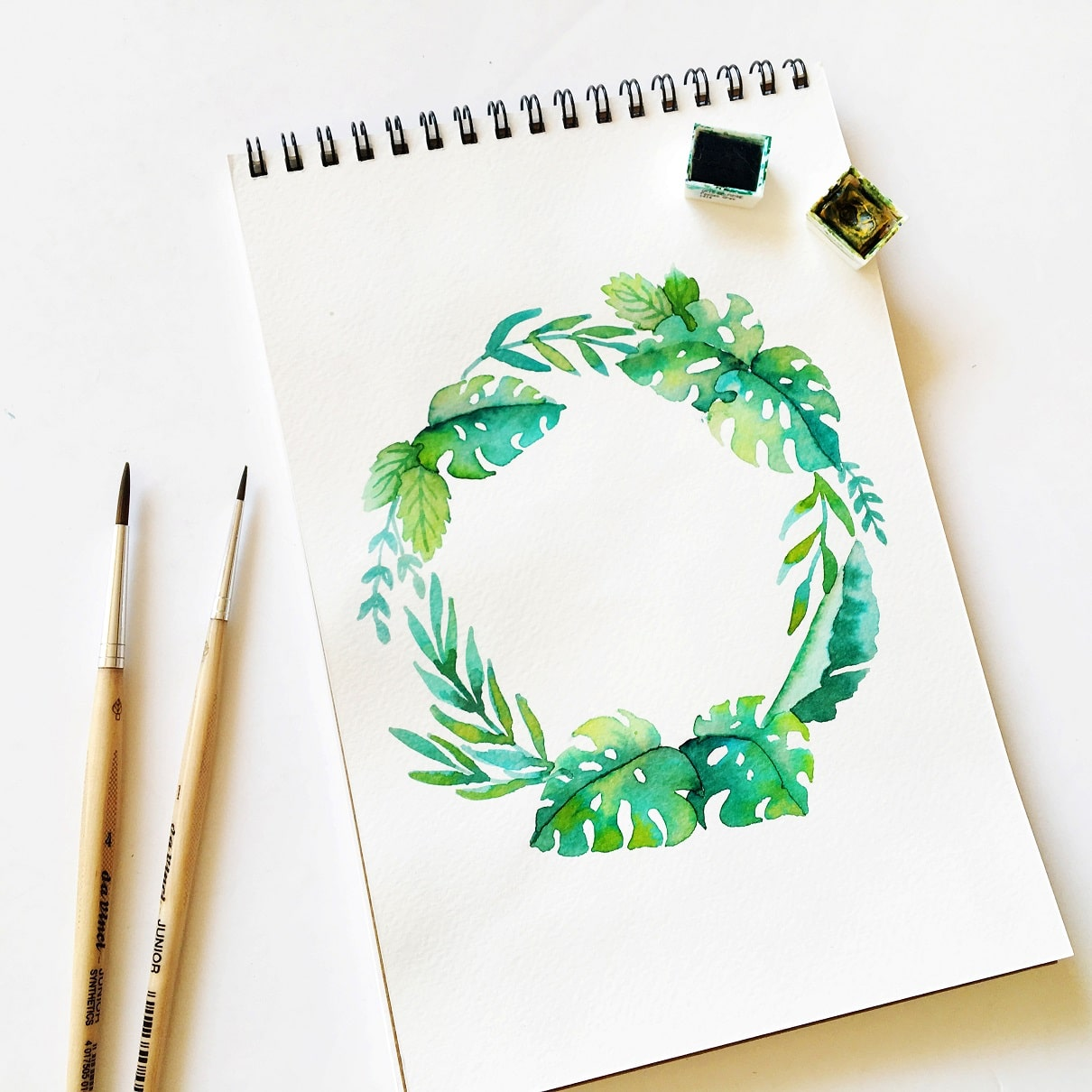 Watercolor florals - tropical flower wreath