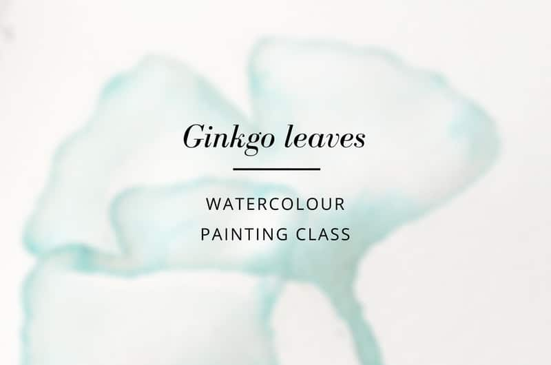 Ginkgo leaves - watercolor tutorial