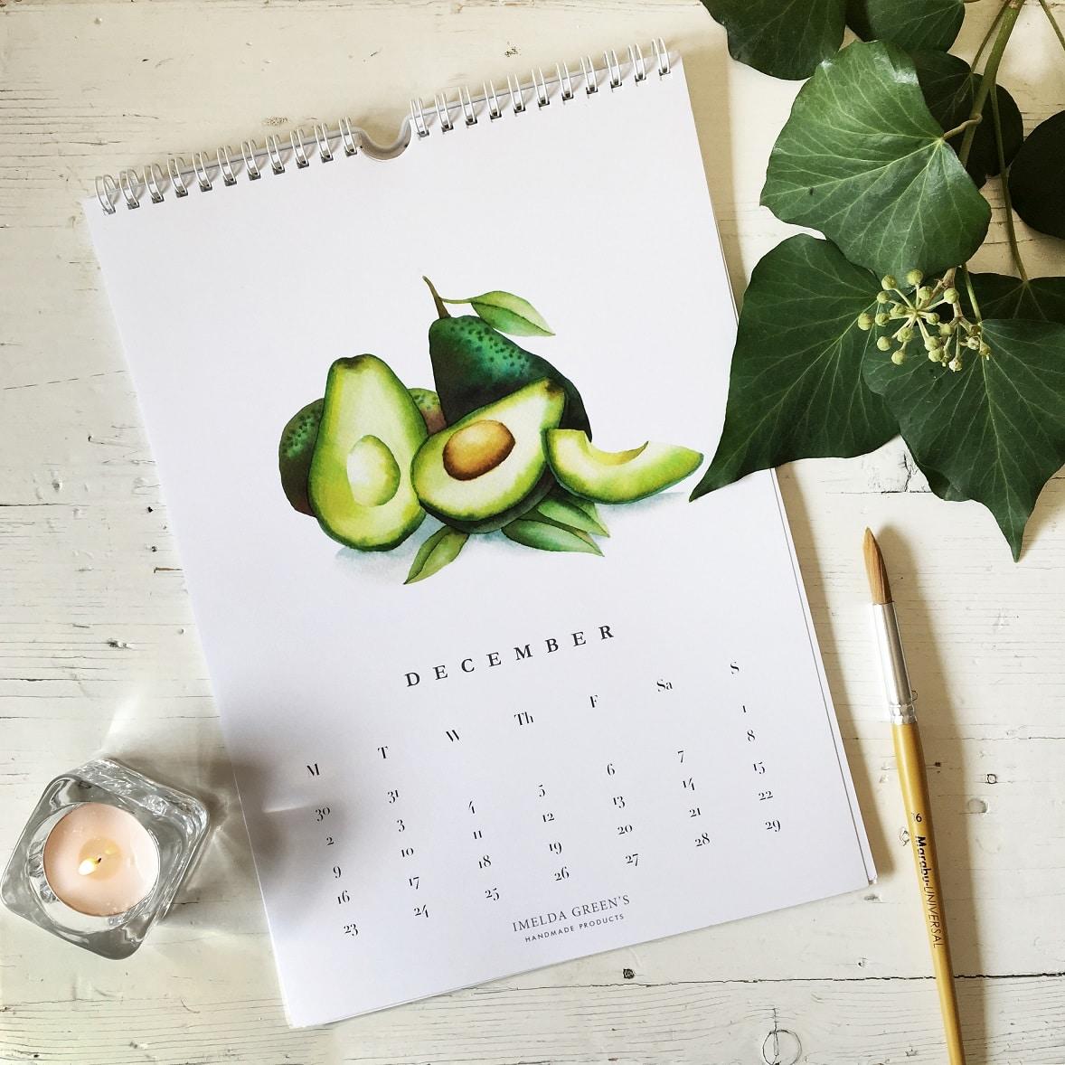 Watercolor Veggies - 2019 calendar