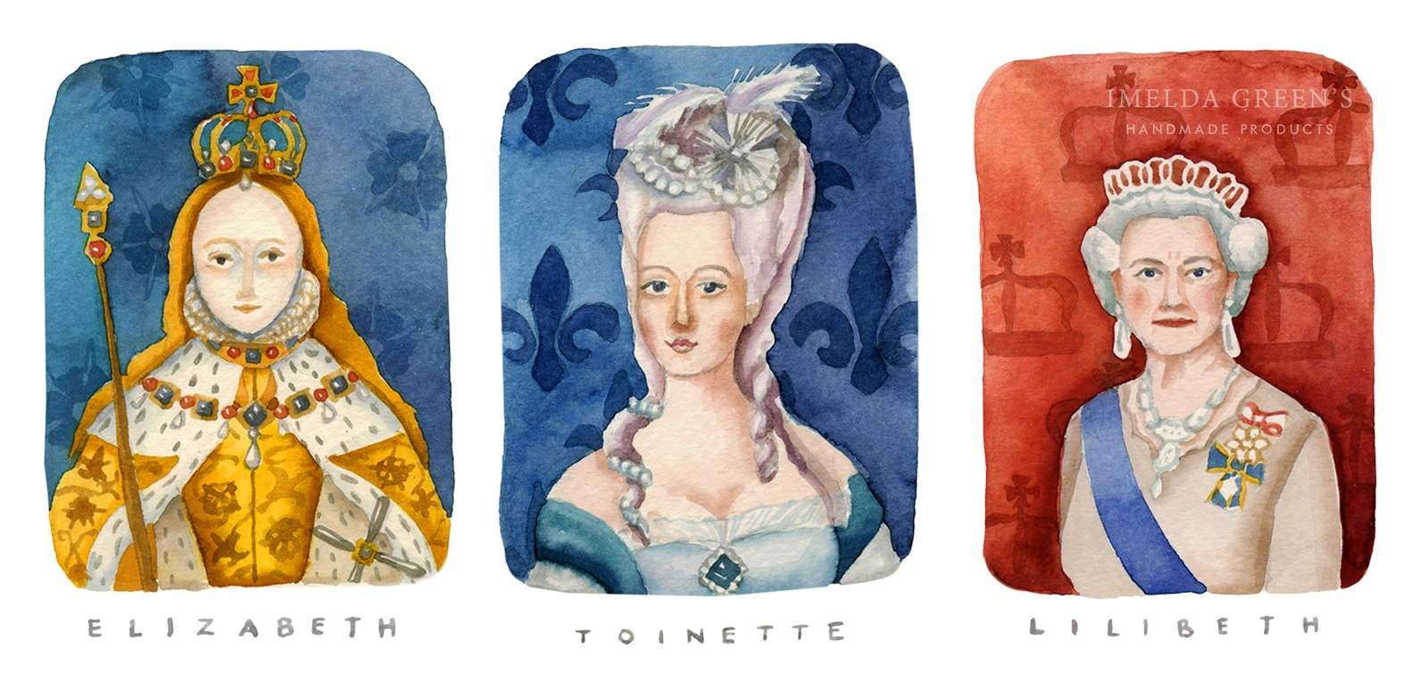Watercolour portraits | 3 inspirational queens for women's day