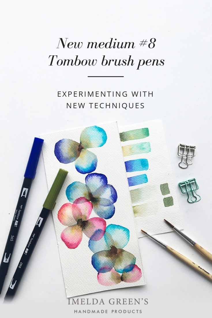 Using Tombow brush pens as watercolor | experimenting
