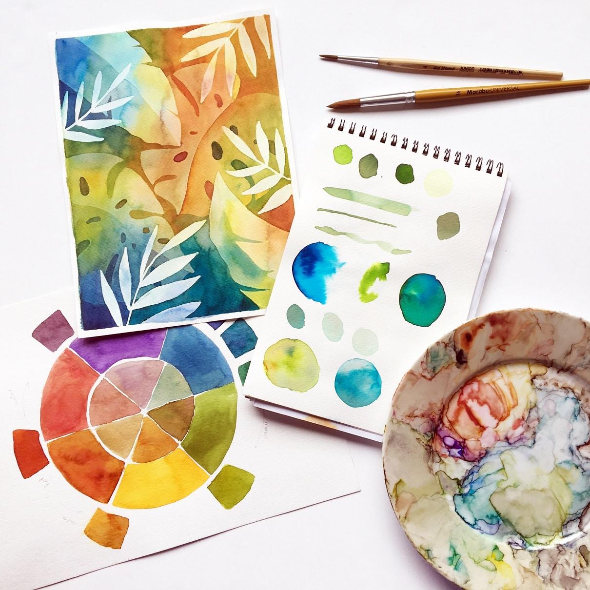 haladó akvarell workshop