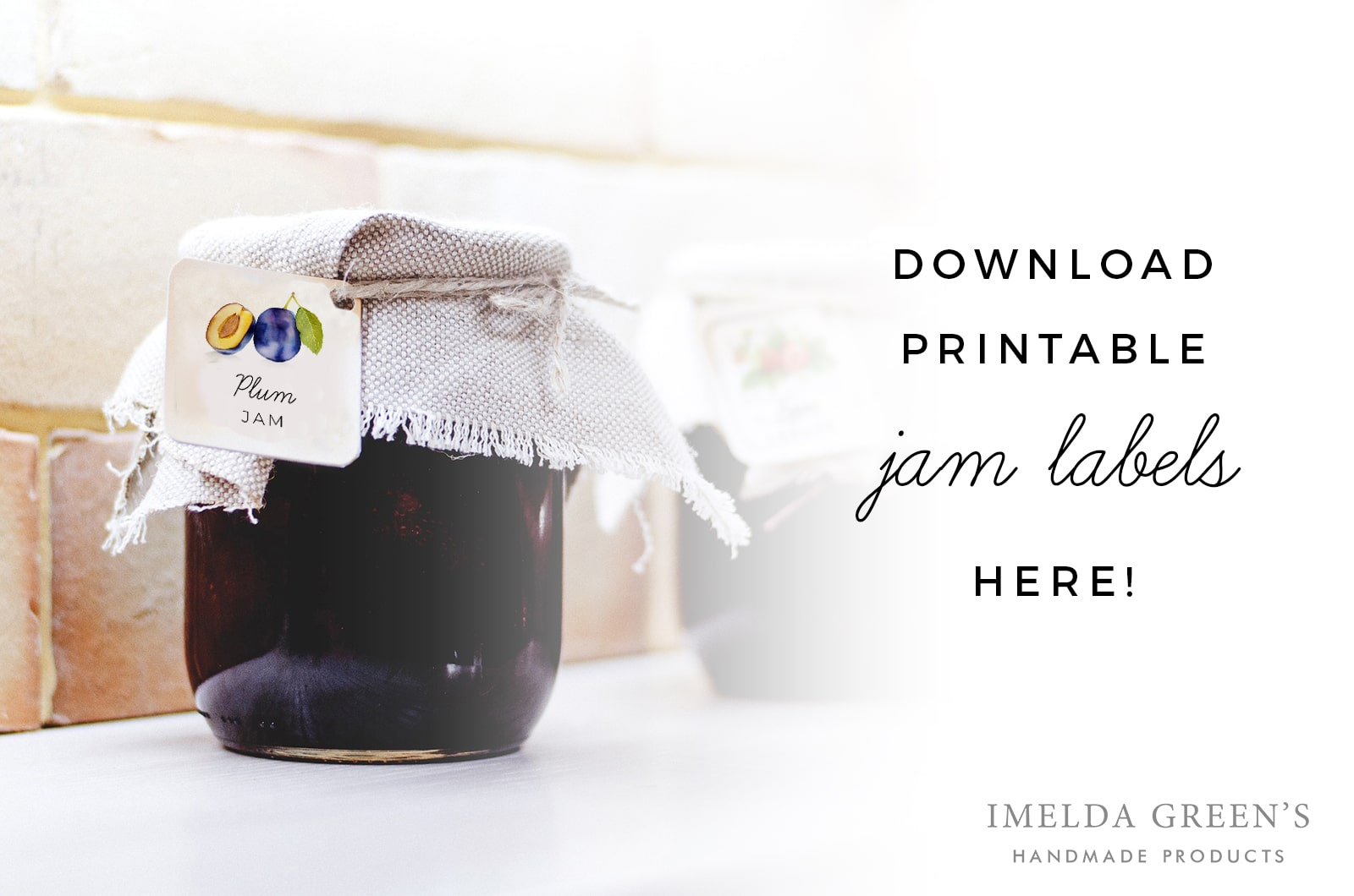 Watercolor fruit | Printable jam labels