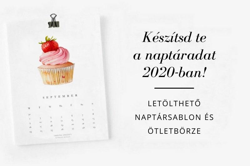 Create your own calendar in 2020 - downloadable blank calendar template