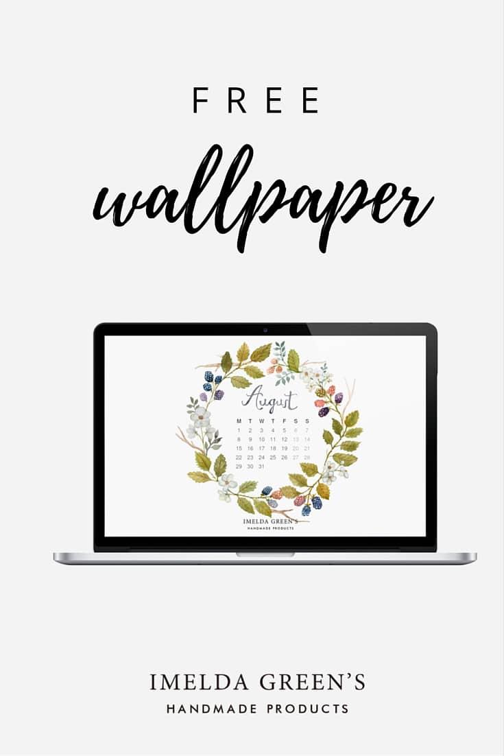 Hand-painted wallpaper calendar free download