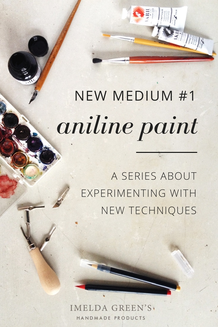 A series about experimenting with new techniques - aniline paint