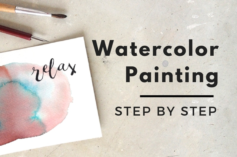 Relax watercolor tutorial