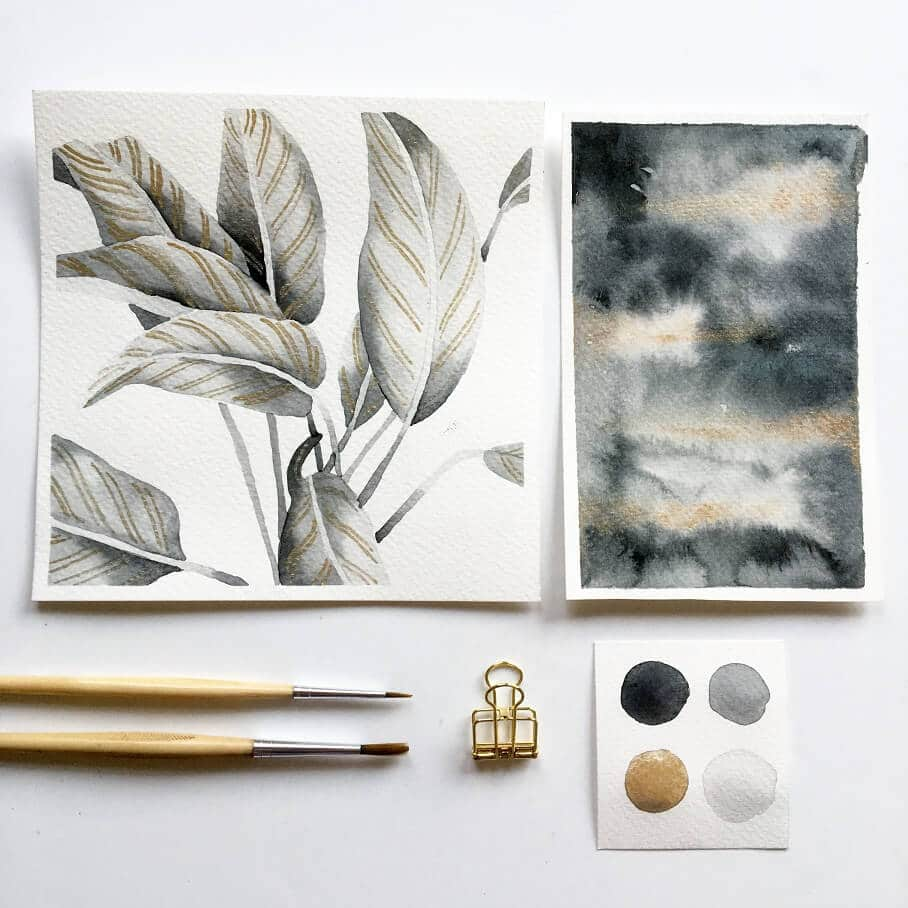 Inktober - houseplants