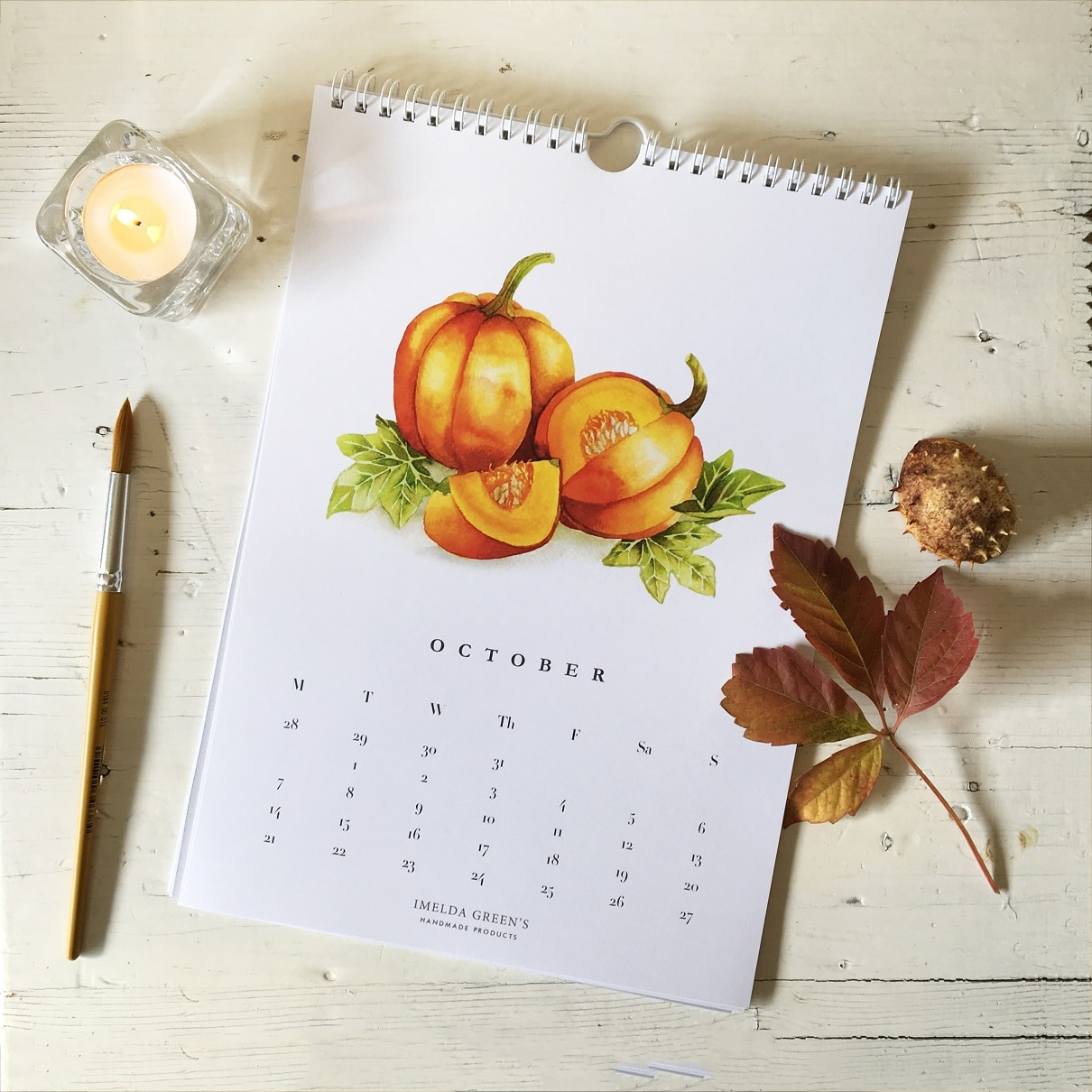 Watercolor Veggies - 2019 calendar