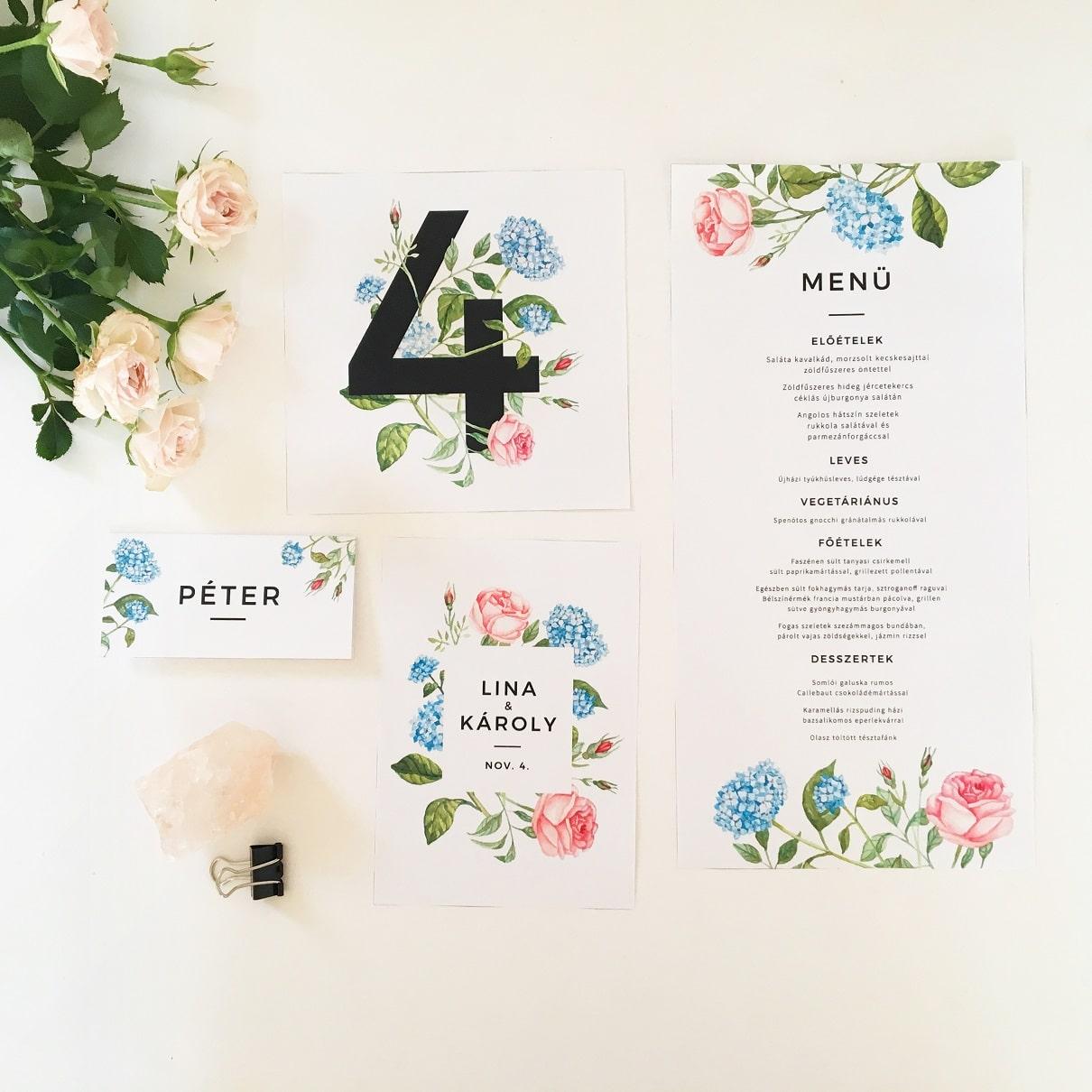Wedding stationery - custom watercolor illustration