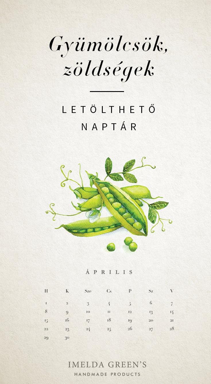 Veggies monthly calendar | Free wallpaper | hand-painted watercolor food illustration