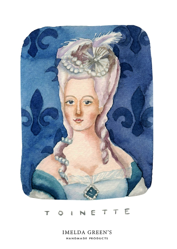 Watercolour portrait | Marie-Antoinette | 3 inspirational queens for women's day