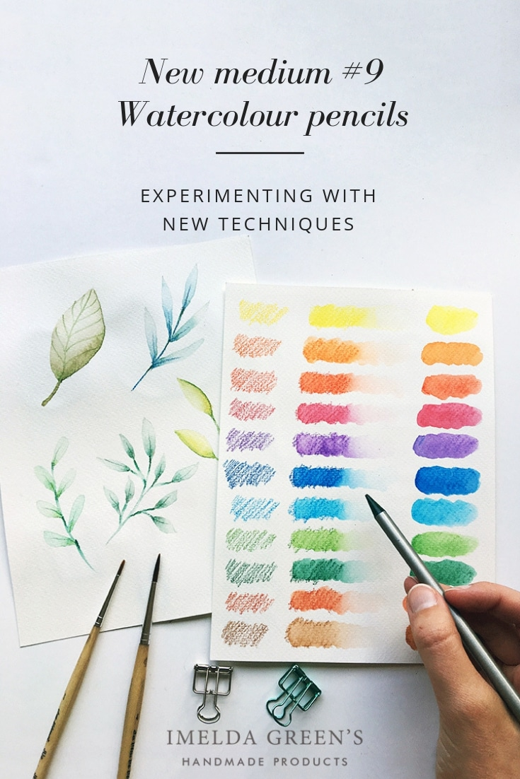 Watercolor pencils for beginners | experimenting with new texhniques | akvarellceruza