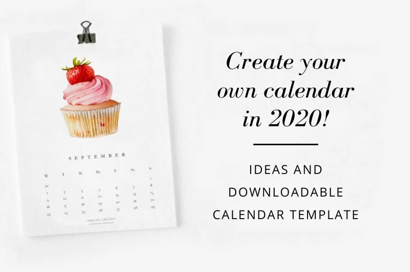 Create your own calendar in 2020 - downloadable blank calendar template