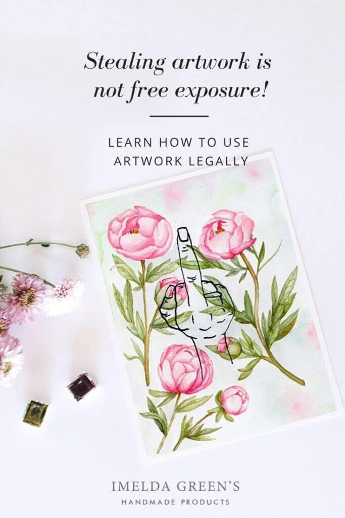 Art theft is not free exposure! - learn how to use artwork legally