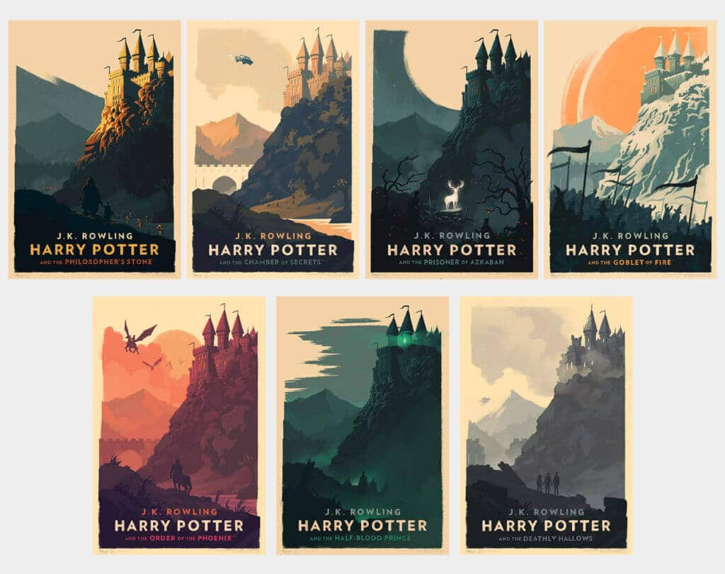 Harry Potter covers that please a graphic designer - Olly Moss