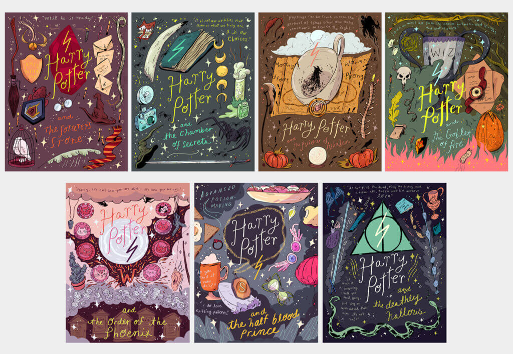 Harry Potter covers that please a graphic designer - Natalie Andrewson