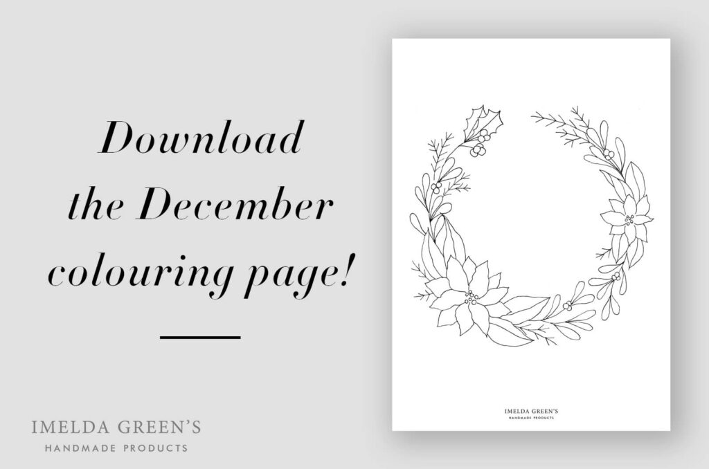 Downloadable coloring page | November floral wreath - watercolor tutorial