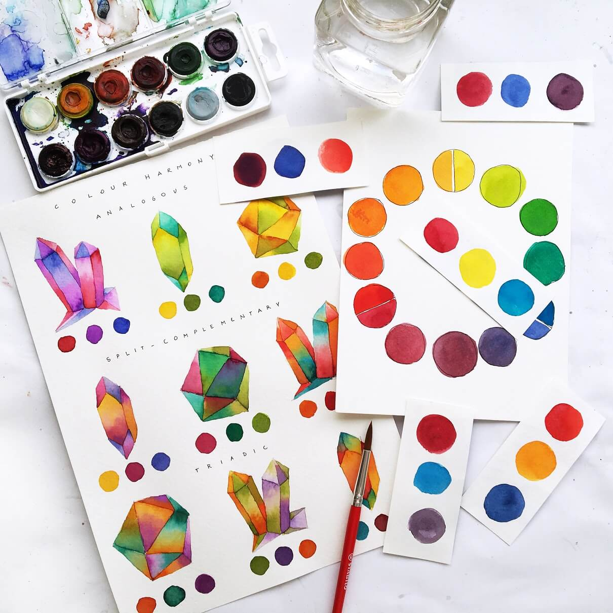 Colour mixing in watercolour like a pro
