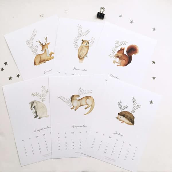 Erdei Állatok - 2021-es naptár